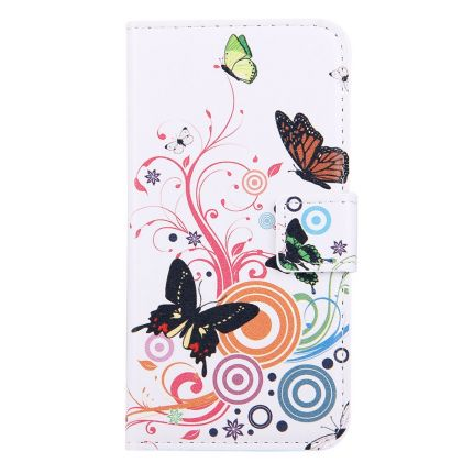 Mobigear Design Klapphülle für iPhone SE (2020) / 8 / 7 - Schmetterling