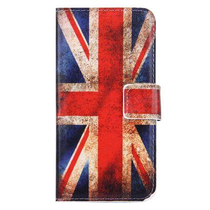 Mobigear Design Klapphülle für iPhone SE (2020) / 8 / 7 - Vintage UK-Flagge
