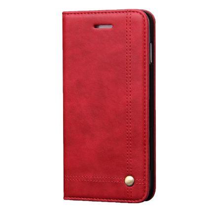 Mobigear Stitching Klapphülle für iPhone 8 Plus / 7 Plus - Rot