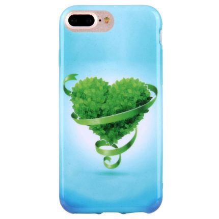 Mobigear Design TPU Backcover für iPhone 8 Plus / 7 Plus - Grün Liebe
