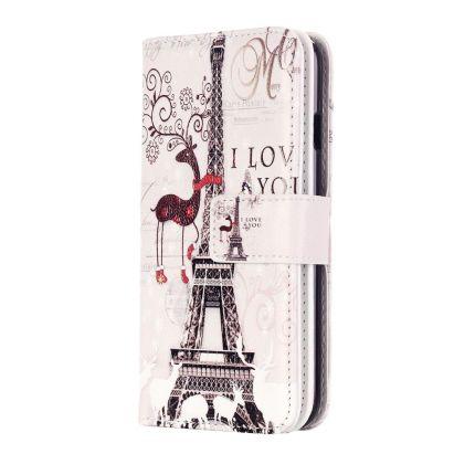 Mobigear Design Klapphülle für iPhone SE (2020) / 8 / 7 - Eiffelturm