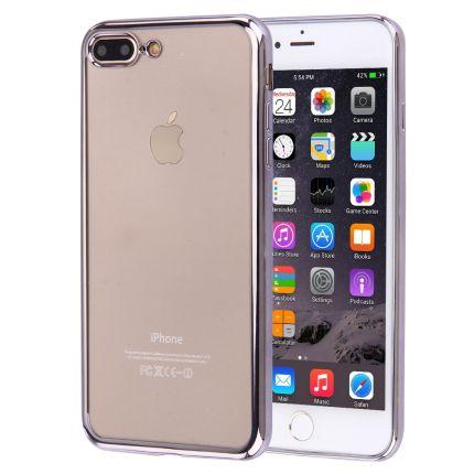 Mobigear Royal TPU Backcover für iPhone 8 Plus / 7 Plus - Transparent / Silber