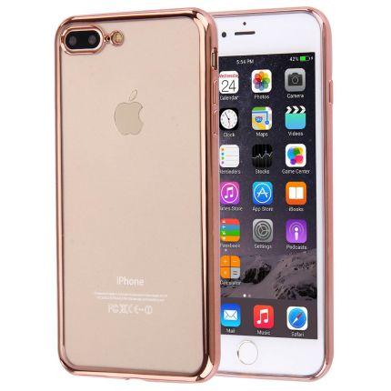 Mobigear Royal TPU Backcover für iPhone 8 Plus / 7 Plus - Transparent / Roségold