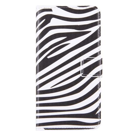 Mobigear Design Klapphülle für iPhone 8 Plus / 7 Plus - Zebra