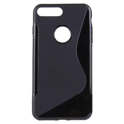 Mobigear S-Line TPU Backcover für iPhone 8 Plus / 7 Plus - Schwarz
