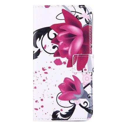 Mobigear Design Klapphülle für iPhone 8 Plus / 7 Plus - Lotusblume