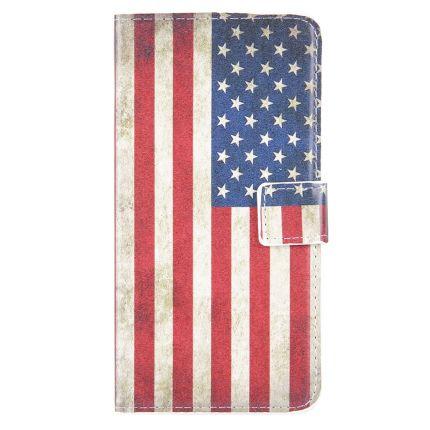 Mobigear Design Klapphülle für iPhone 8 Plus / 7 Plus - Vintage US-Flagge.