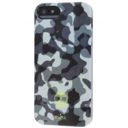 Puro Army Fluo TPU Backcover für iPhone SE (2016) / 5S / 5 - Camo Black