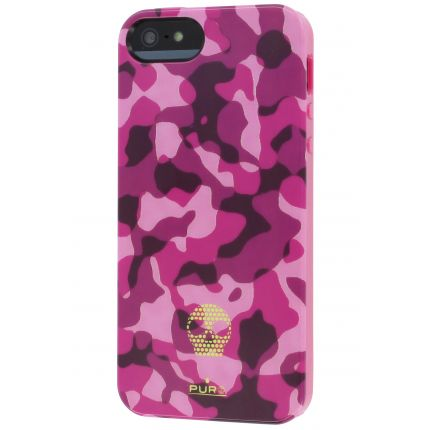 Puro Army Fluo TPU Backcover für iPhone SE (2016) / 5S / 5 - Pink
