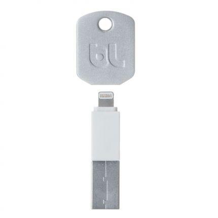 BlueLounge Kii Schlüsselanhänger USB-A auf Apple Lightning Kabel - Weiß