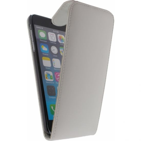 Xccess Flipcase für iPhone 6(s) Plus - Weiß