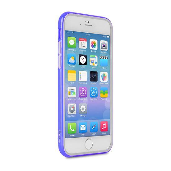 Puro Bumper Kunststoff Bumper für iPhone 6(s) Plus - Blau