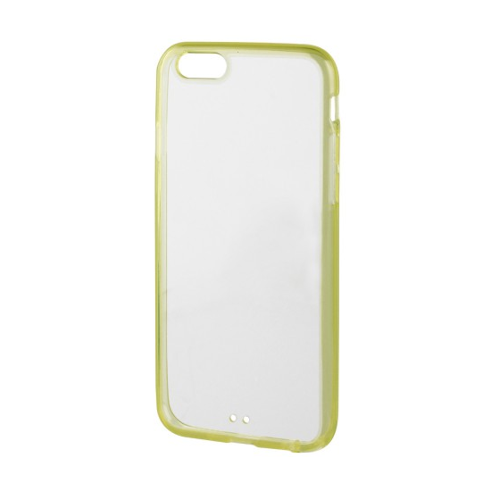 Xqisit iPlate Hardcase Backcover für iPhone 6(s) - Lime / Transparent