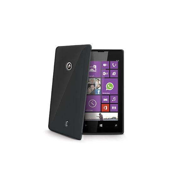 Celly Gelskin TPU Backcover für Nokia Lumia 520 - Schwarz