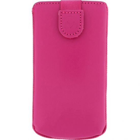 Mobilize Slide Echtleder Einschubhülle Universal XL - Pink