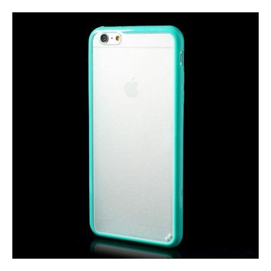 Mobigear Acrylic Hardcase Backcover für iPhone 6(s) Plus - Transparent / Türkis