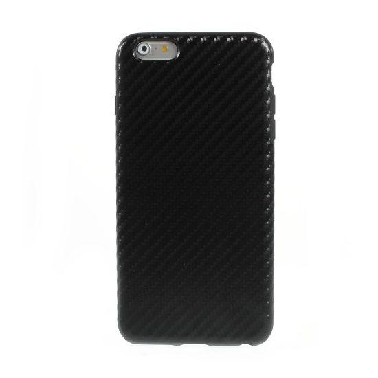 Mobigear Racing TPU Backcover für iPhone 6(s) Plus - Schwarz