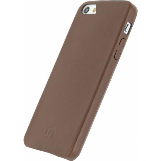 Mobilize Premium Backcover für iPhone SE (2016) / 5S / 5 - Braun