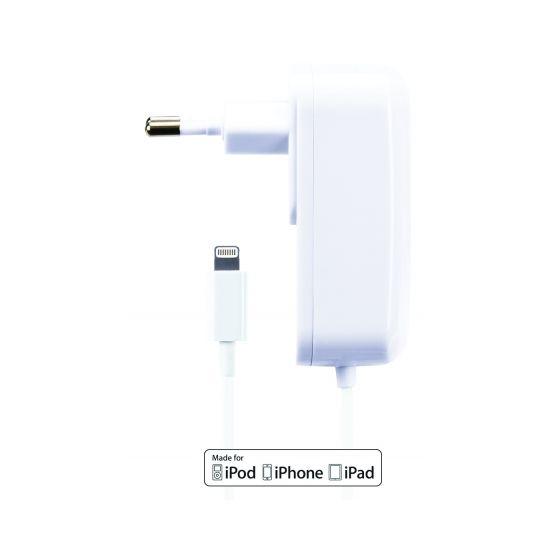 Gecko Solo Ladegerät Apple Lightning 1.5 Meter 10W 2.1A - Weiß