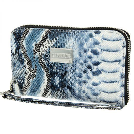 Valenta Luxury Handbag Echtleder Clutch Universal - Blue Snake