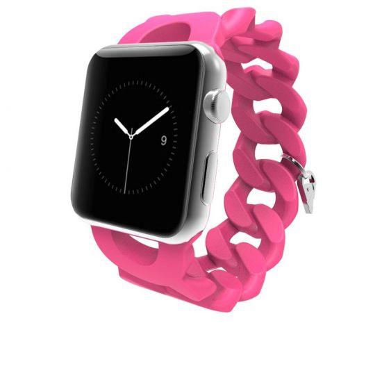 Case Mate Turnlock Strap Silikon Armband für Apple Watch 41mm / 40mm / 38mm - Pink