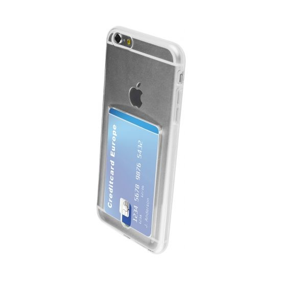 Mobiparts Smart Creditcard TPU Backcover für iPhone 6(s) Plus - Transparent