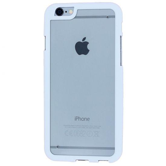 Phone Essentials Clear Hardcase Backcover für iPhone 4(S) - Weiß