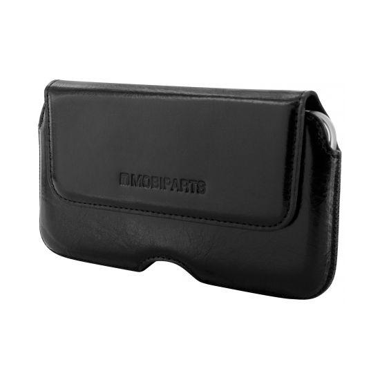 Mobiparts Excellent Belt Echtleder Handy Holster Universal 3XL - Jade Black