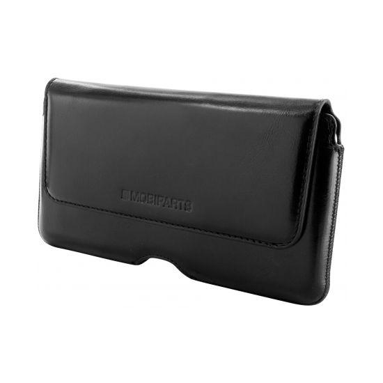Mobiparts Excellent Belt Echtleder Handy Holster Universal 5XL - Jade Black