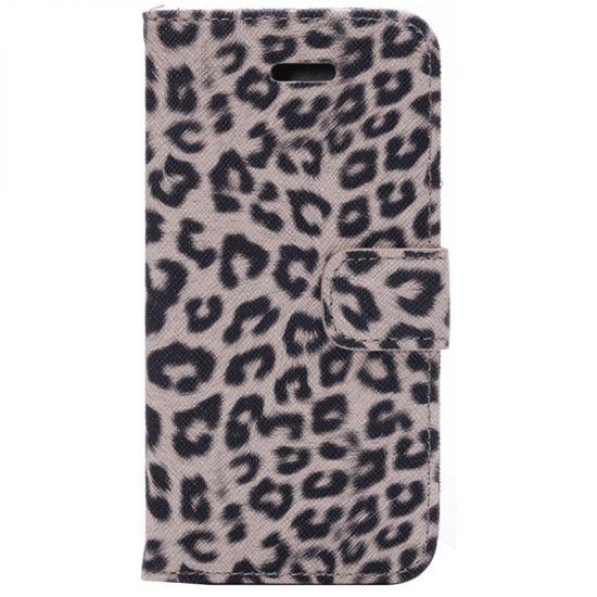 Mobigear Leopard Klapphülle für iPhone 6(s) - Braun