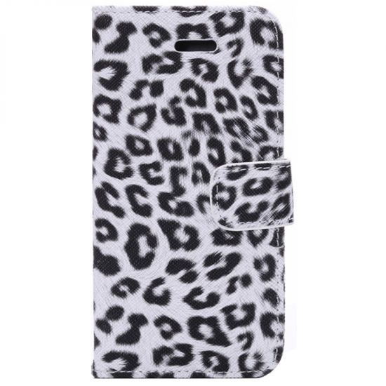 Mobigear Leopard Klapphülle für iPhone 6(s) - Weiß