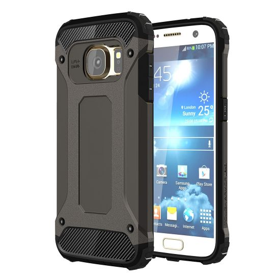 Mobigear Outdoor Hardcase Backcover für Samsung Galaxy S7 - Schwarz