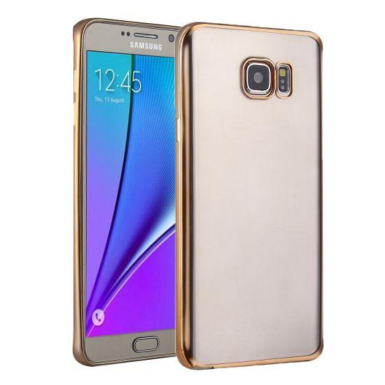 Mobigear Royal TPU Backcover für Samsung Galaxy S7 - Transparent / Gold