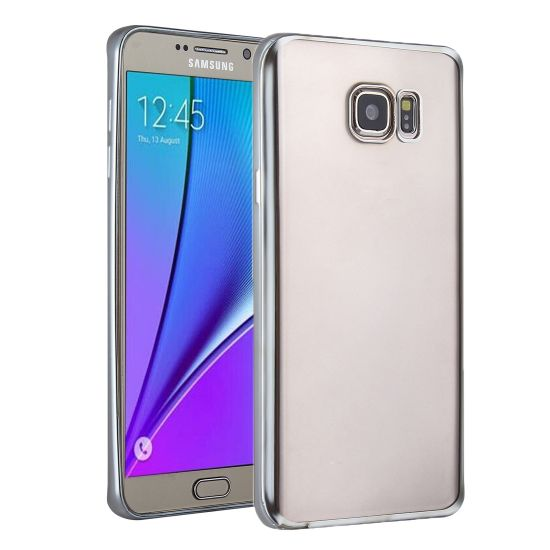 Mobigear Royal TPU Backcover für Samsung Galaxy S7 - Transparent / Silber