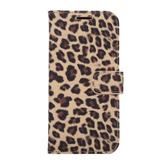 Mobigear Leopard Klapphülle für Samsung Galaxy S7 Edge - Gelb