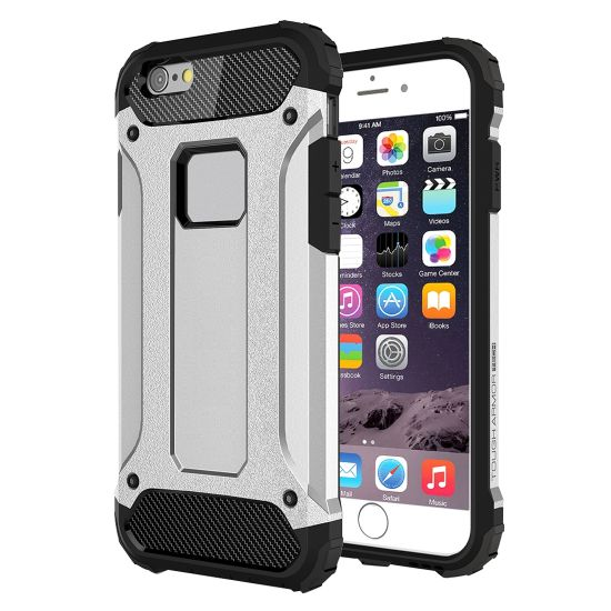 Mobigear Outdoor Hardcase Backcover für iPhone 6(s) - Silber