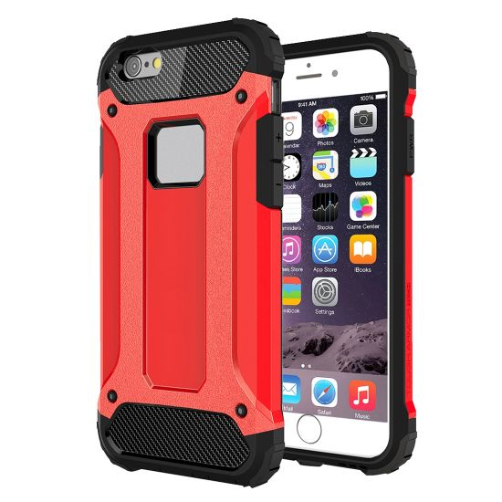 Mobigear Outdoor Hardcase Backcover für iPhone 6(s) - Rot