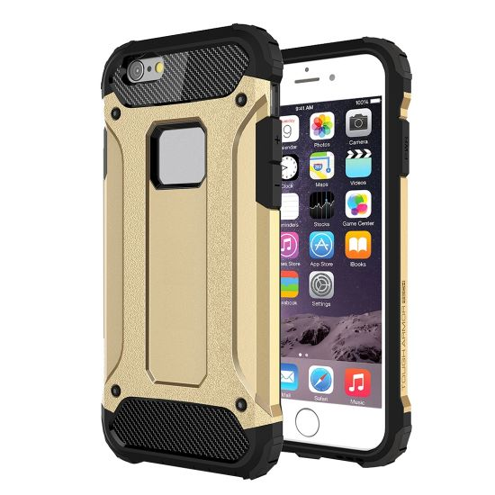 Mobigear Outdoor Hardcase Backcover für iPhone 6(s) - Gold