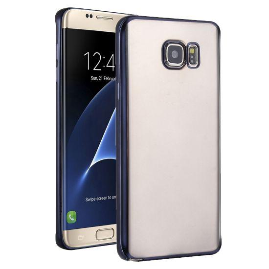 Mobigear Royal TPU Backcover für Samsung Galaxy S7 Edge - Transparent / Schwarz