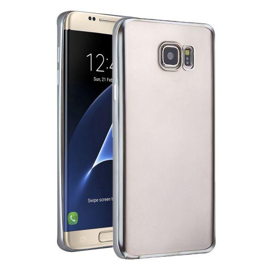 Mobigear Royal TPU Backcover für Samsung Galaxy S7 Edge - Transparent / Silber