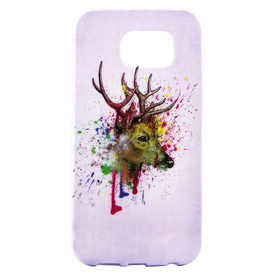Mobigear Design TPU Backcover für Samsung Galaxy S7 Edge - Hirsch