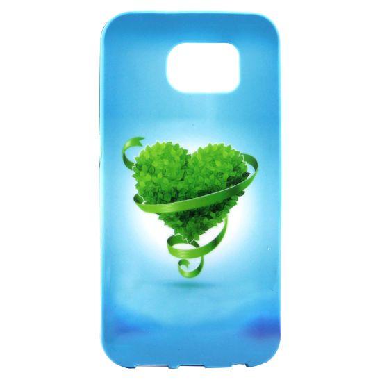 Mobigear Design TPU Backcover für Samsung Galaxy S7 Edge - Grün Liebe