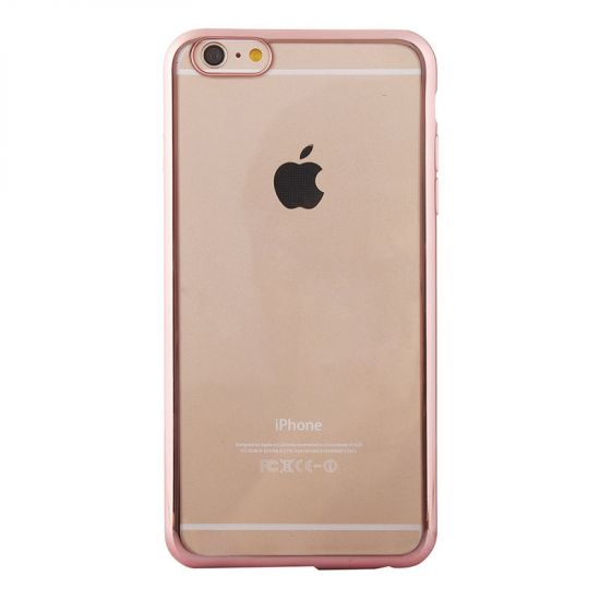 Mobigear Royal TPU Backcover für iPhone 6(s) - Transparent / Pink