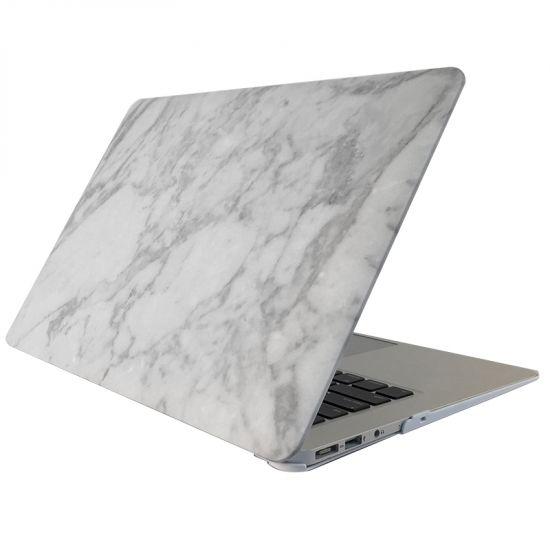 Mobigear Marmor Case für MacBook Pro 13 Zoll A1425 / A1502 - Weiß / Grau