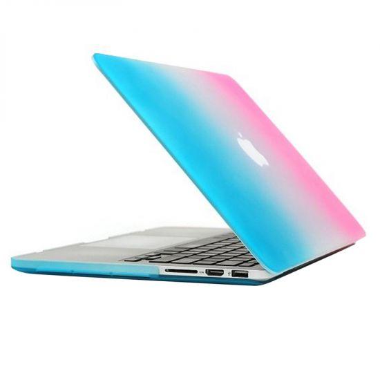 Mobigear Matte Case für MacBook Pro 13 Zoll - Blau / Pink