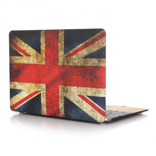 Mobigear Design Case für MacBook 12 Zoll - Vintage UK-Flagge