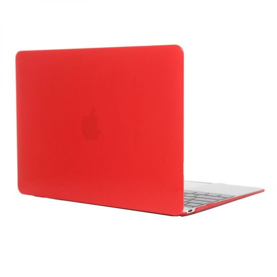Mobigear Glossy Case für MacBook 12 Zoll A1534 - Rot