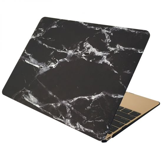 Mobigear Marmor Case für MacBook 12 Zoll A1534 - Schwarz