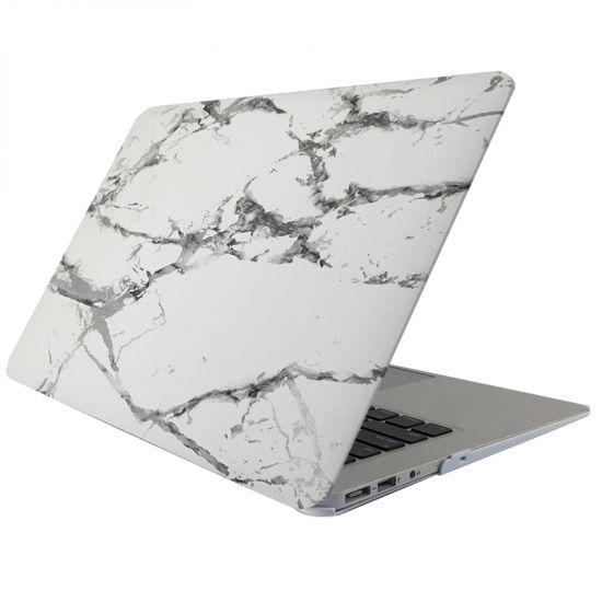 Mobigear Marmor Case für MacBook 12 Zoll - Weiß