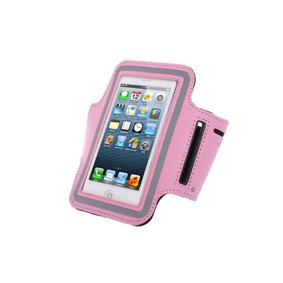 Mobigear Neopren Sportarmband für iPhone SE (2016) / 5S / 5C / 5 - Pink
